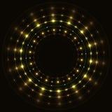 抽象金圆的框架 免版税库存图片