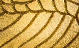 抽象金子闪烁和黄色泡沫装饰 免版税图库摄影