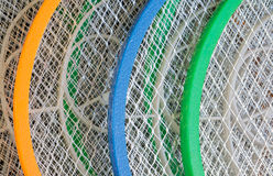 抽象金属和塑料球拍 免版税库存照片