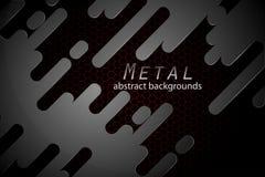 抽象金属塑造场面概念 库存图片