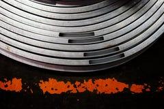 抽象金属曲线管 库存照片