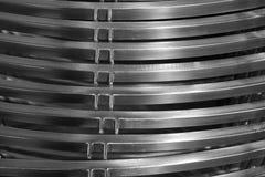 抽象金属曲线 免版税库存图片
