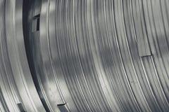 抽象金属曲线 库存照片