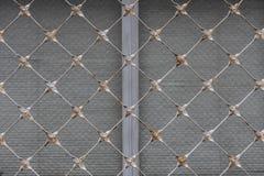抽象金属栅格背景纹理 免版税库存照片