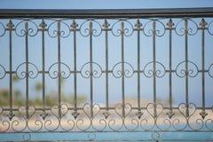抽象金属栏杆样式 免版税库存图片