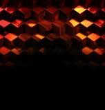 抽象金属立方体技术背景 向量例证