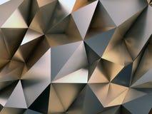 抽象金属背景3D例证 库存例证