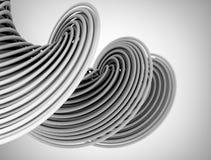 抽象金属3d形状 免版税库存图片