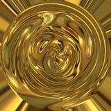 抽象金液体罐 免版税图库摄影
