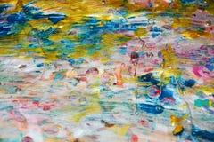 抽象金蓝色淡色闪耀的背景,蜡状的抽象背景,水彩生动的背景,纹理 库存图片