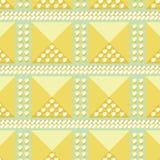 抽象金黄无缝的模式 免版税图库摄影