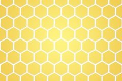 抽象金黄蜂窝和六角样式 库存图片