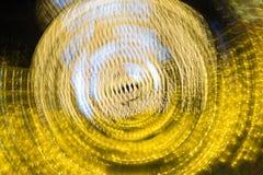 抽象金黄光 库存照片
