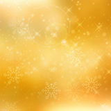 抽象金黄圣诞节背景 免版税库存图片