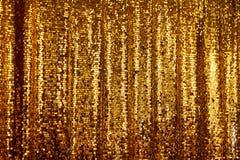 抽象金黄闪烁背景 免版税库存图片