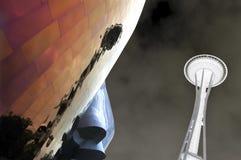 抽象针西雅图空间华盛顿 免版税库存照片