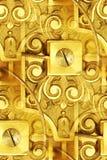 抽象钟表机构葡萄酒 免版税库存照片