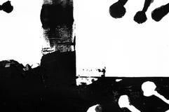 抽象钢板蜡纸打印,贷方绘画 免版税库存图片