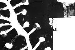 抽象钢板蜡纸打印,贷方绘画 免版税库存照片