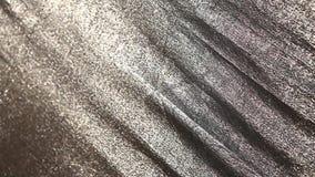 抽象银色布料纹理特写镜头 影视素材