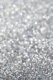 抽象银色闪烁假日背景 库存图片