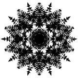 抽象锋利的星雪花装饰品装饰传染媒介 向量例证