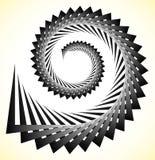 抽象锋利螺旋,与三角形状的爱奥尼亚柱型 库存例证