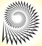 抽象锋利螺旋,与三角形状的爱奥尼亚柱型 皇族释放例证