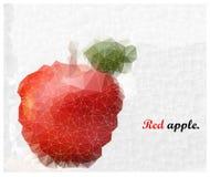 抽象锦砖苹果背景 库存图片