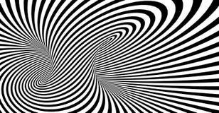 抽象镶边螺旋传染媒介黑白背景 向量例证