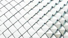 抽象长方形正方形被折叠的样式白色梯度 免版税库存图片
