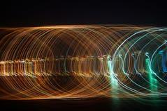 抽象长的曝光光 免版税图库摄影