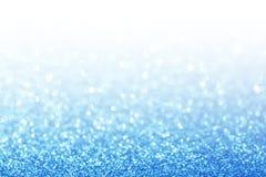 抽象闪烁蓝色背景 免版税库存图片