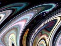 抽象闪耀的黑暗的紫色流体线几何,抽象图表 向量例证
