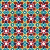 抽象阿拉伯伊斯兰教的无缝的几何样式背景 也corel凹道例证向量 免版税库存图片