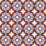 抽象阿拉伯伊斯兰教的无缝的几何装饰品样式 向量 库存照片