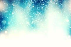 抽象降雪的背景 库存图片