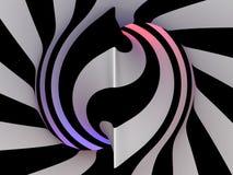 抽象隧道, 3D 免版税图库摄影