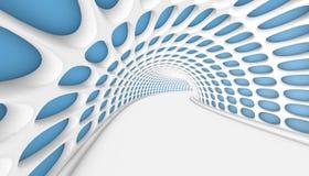 抽象隧道3d背景 免版税库存照片
