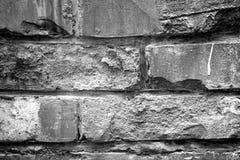 抽象难看的东西背景-黑白砖墙 免版税图库摄影