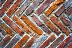 抽象难看的东西背景-老红砖墙壁 免版税库存图片
