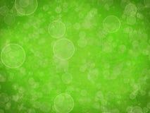 抽象难看的东西背景-绿色bokeh纹理 库存照片