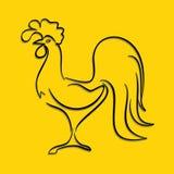 抽象雄鸡,公鸡传染媒介象 库存图片