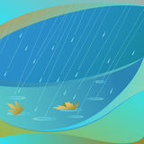 抽象雨向量 库存照片