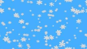 抽象雪秋天夹子 向量例证
