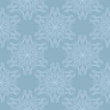 抽象雪花无缝的样式 库存图片