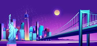 抽象霓虹城市 皇族释放例证