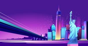 抽象霓虹城市 向量例证