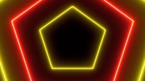 抽象霓虹多角形背景 3d翻译 皇族释放例证