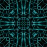 抽象霓虹焕发几何方形的设计 图库摄影